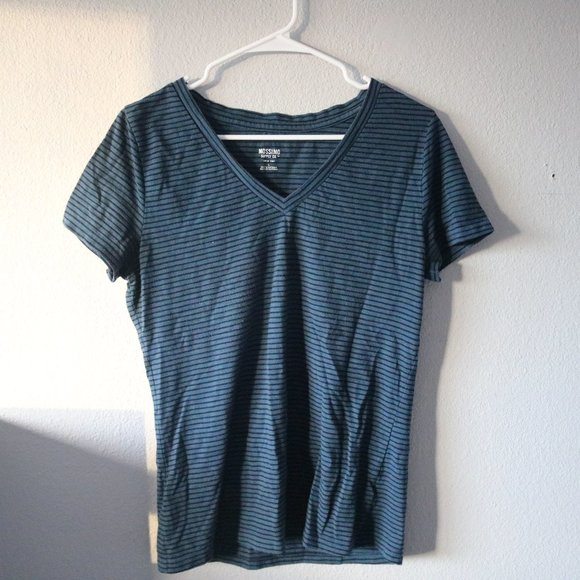 Mossimo Supply Co. Tops - MOSSIMO Blue and Black Striped Tee